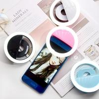 נייד נייד טלפון LED Selfie מנורת עבור כל טלפונים סלולריים LED טבעת למלא Selfie אור 3 רמות זוהר טבעת קליפ איפור אור