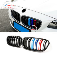 For BMW 5 Series F10 2011 2016 2PCS Front Double Pole Sport Radiator Grille Air Grille Kidney Grille Trim
