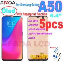 5 PCS Super AMOLED For Samsung Galaxy A50 2019 A505 A505F A505F/DS A505FD SM-A505FN/DS A505A LCD Display Touch Screen Assembly