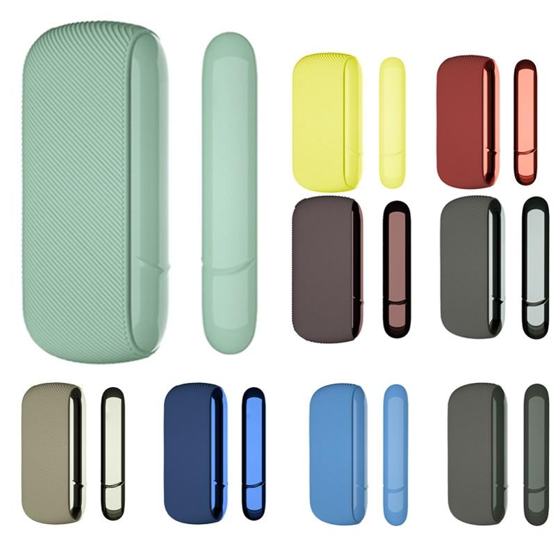 Funda protectora completa con cubierta lateral de silicona de sarga fina de 14 colores para IQOS 3,0/3 DUO, funda exterior para accesorios IQOS 2020 nuevo