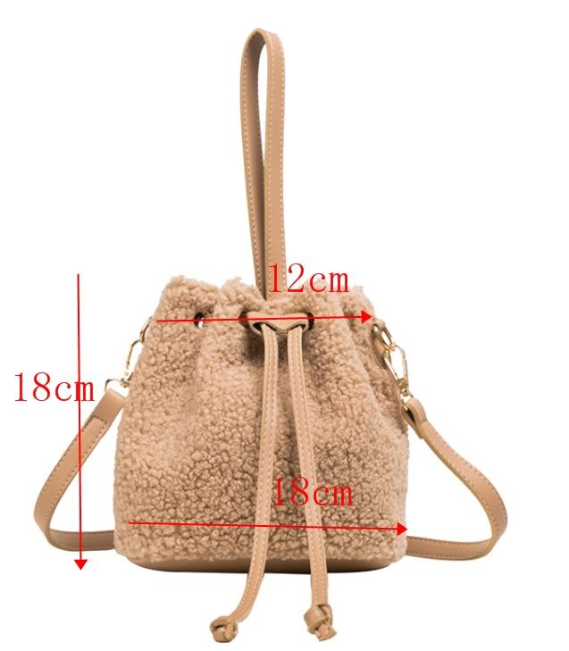 [BXX] Solid Color Faux Fur Small Soft Crossbody Bags For Women 2020 Winter Trend Bag Ladies Luxury Warm Shoulder Handbags HO806