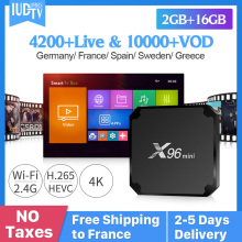 X96 MINI IPTV Spain Android 7.1 Smart TV Box 2GB 16GB Sweden Italy UK Greek Netherlands IUDPRO Code Subscription