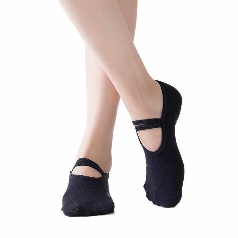 Barra Pilates yoga di ballo di balletto delle donne basso per aiutare calzini anti-skating cotone caviglia scarpe da ginnastica Professionale Anti Slip size 5-10