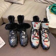 2021 ботинки из натуральной кожи; Зимние теплые ботинки; Удобные