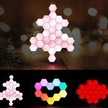 5pcs Set LED Night Light DIY Smart APP Control Panel Geometry Assembly Dynamic Quantum Lights Table Hexagonal Lamps