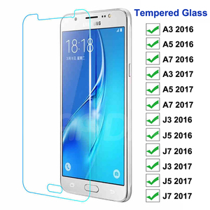 9H Anti-Burst Protective Glass For Samsung Galaxy J3 J5 J7 A3 A5 A7 2016 2017 Tempered Glass Screen Protector S7 Glass Film