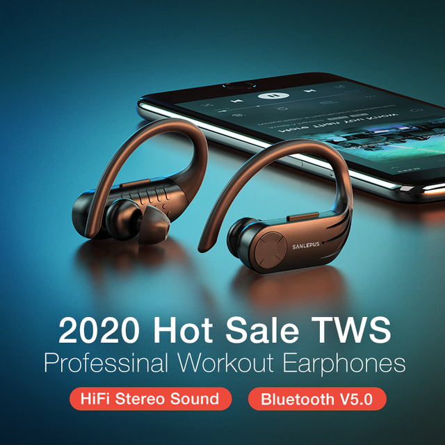 SANLEPUS B1 Led Display Bluetooth Earphone Wireless Headphones TWS Stereo Earbuds Waterproof Noise Cancelling Headset With Mic