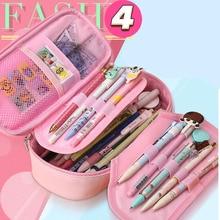 Милый чехол для карандашей Kawaii Kids Girl Pencil, многофункциональная сумка, сумка для ручек, школьные принадлежности, канцелярские принадлежности, подарки