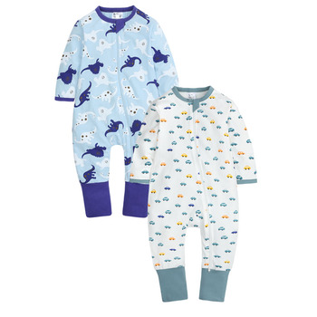 2PCS/Lot Baby Clothes Baby Rompers Baby Boy Clothes Newborn Long Sleeve Cotton Infant High Quality Body Suit Baby Jumpsuit 0-24M 1