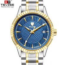 TEVISE Automatic Self-Wind Man Wristwaches Men Mechanical Luminous Watches Auto date Watch Alloy Male Clock Relogio Masculino