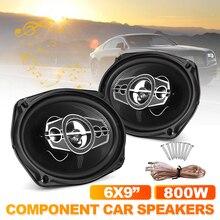 2pcs Universal 6x9 Inch 800W 3 Way Car Coaxial Speaker Hifi