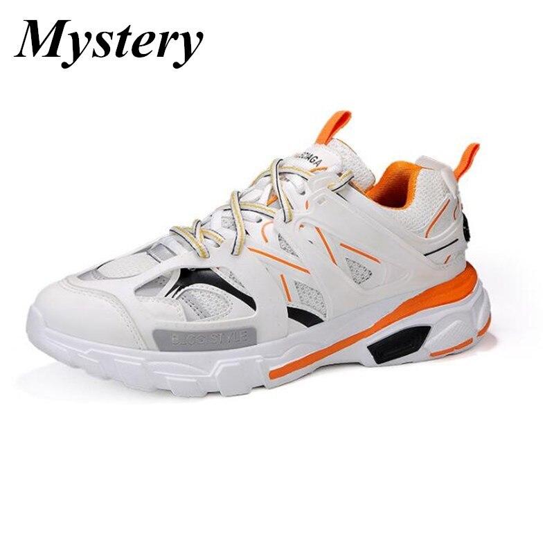 2019 винтажные массивные кроссовки; цвет желтый, черный, белый; Модная легкая дышащая мужская повседневная обувь; мужские кроссовки; zapatos hombre