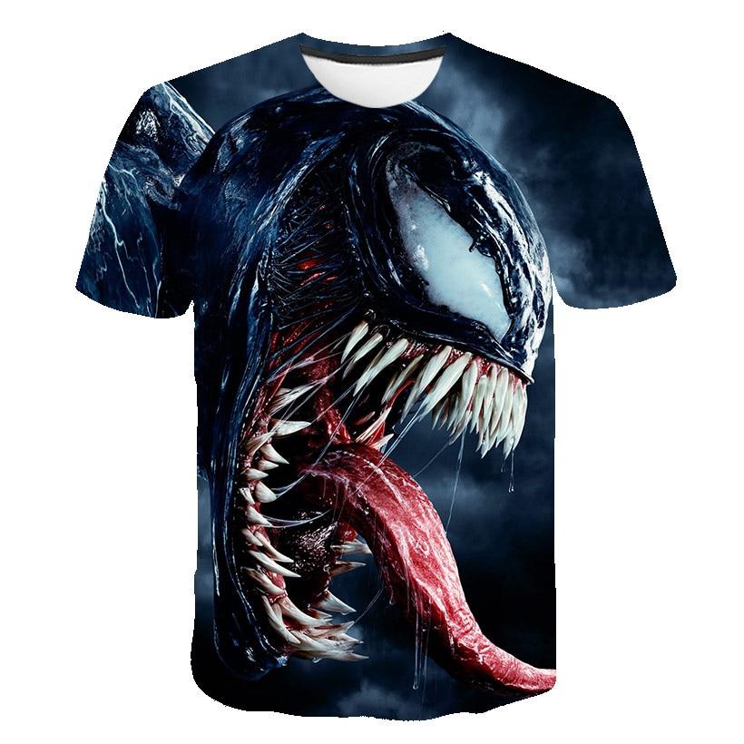Harajuku Poison Eye Print T-shirt Men And Women Movie T-shirt Marvel Hero Venom 3D T-shirt Men's Latest Hip Hop Christmas Eve Sh