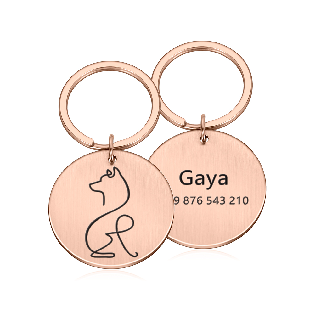 Free Engraved Custom Dogs Anti-lost Name Tags Pendant Pet Dog ID Tag Personalized Cat Puppy ID Tag Pet Dog Collar Accessories