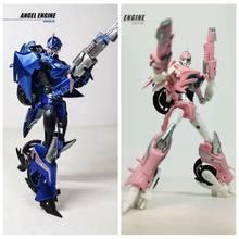 Nova transformação apc-brinquedos primeiro editar feminino tfp azul rosa anjo motor arcee motocicleta figura de ação com caixa