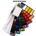 Портативный твердый телефон: 18/25/33/42 цветов, искусственный набор с фотоэлементом складной
