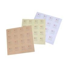 160pcs/lot vintage simple Round  Kraft paper white Stickers Accessories Scrapbooking School Stationery