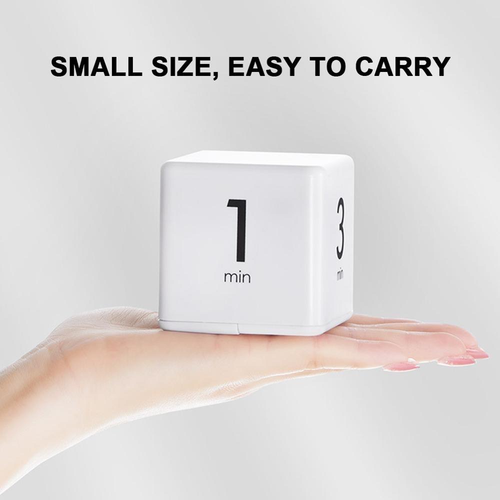 Hotaden Cubo Temporizador Pomodoro Timer Minutos Temporizador Cubo de gesti/ón del Tiempo 15-60 Minutos Blanca