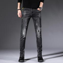 2020 hot Spring and autumn men's new jeans maa1 casual slim feet pants solid color XD622-9