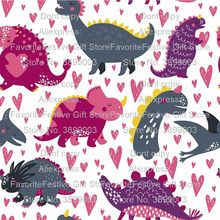 Dinosaur Sea anchor polyster Fabric,DIY Sewing Patchwork Quilting Fat Quarters Tecido Cloth Tilda For Baby Dress Sheet Textiles(China)
