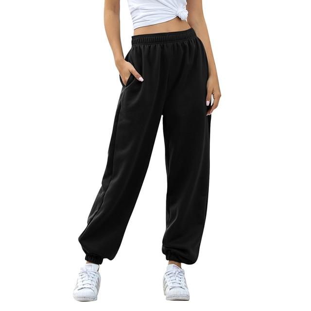 2020 solid high waist pants women clothes γυνεκεία παντελόνα casual streetwear