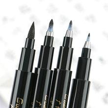 Ensemble de stylos de calligraphie à pointe Fine et à brosse moyenne, pour Signature, dessin, lettrage à la main, fournitures d'art pour Album scolaire, nouvelle collection