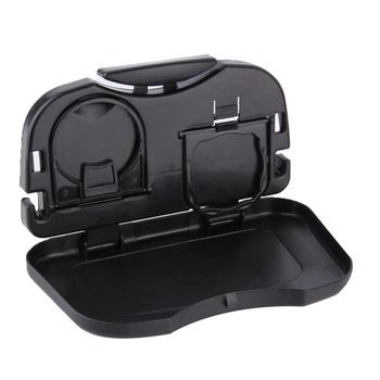 Folding Auto Cup Holder Back Seat Table Drink Food Tray Travel Desk Car Supply image
