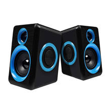 Surround Komputer Portable Speaker dengan Stereo Bass USB Kabel Didukung Multimedia Desktop Speaker untuk PC Laptop(China)