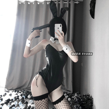 Sexy Cute Bunny Girl Faux Leather Material Rabbit Woman Set Good Quality Can Wear Out To Comic Show Kawaii Cosplay Bunny Costume