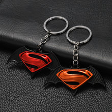 2020 Avengers Jewelry Movie Fans Batman V Superman Keychain Accessories Metal Key Rings For Gift Chaveiro Key Chains Wholesale(China)