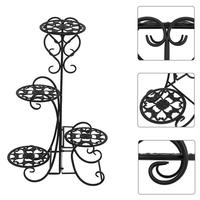 4 Potted Flower Metal Shelves Plant Pot Stand Decoration for Indoor Outdoor Garden new