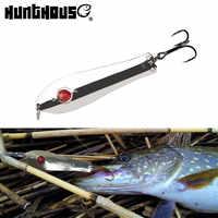 Hunthouse 3pcs 5pcs fishing lure set metal spoon spinners sinking hard lure baits trolling 75mm 11g pike Perch freshwater LW810