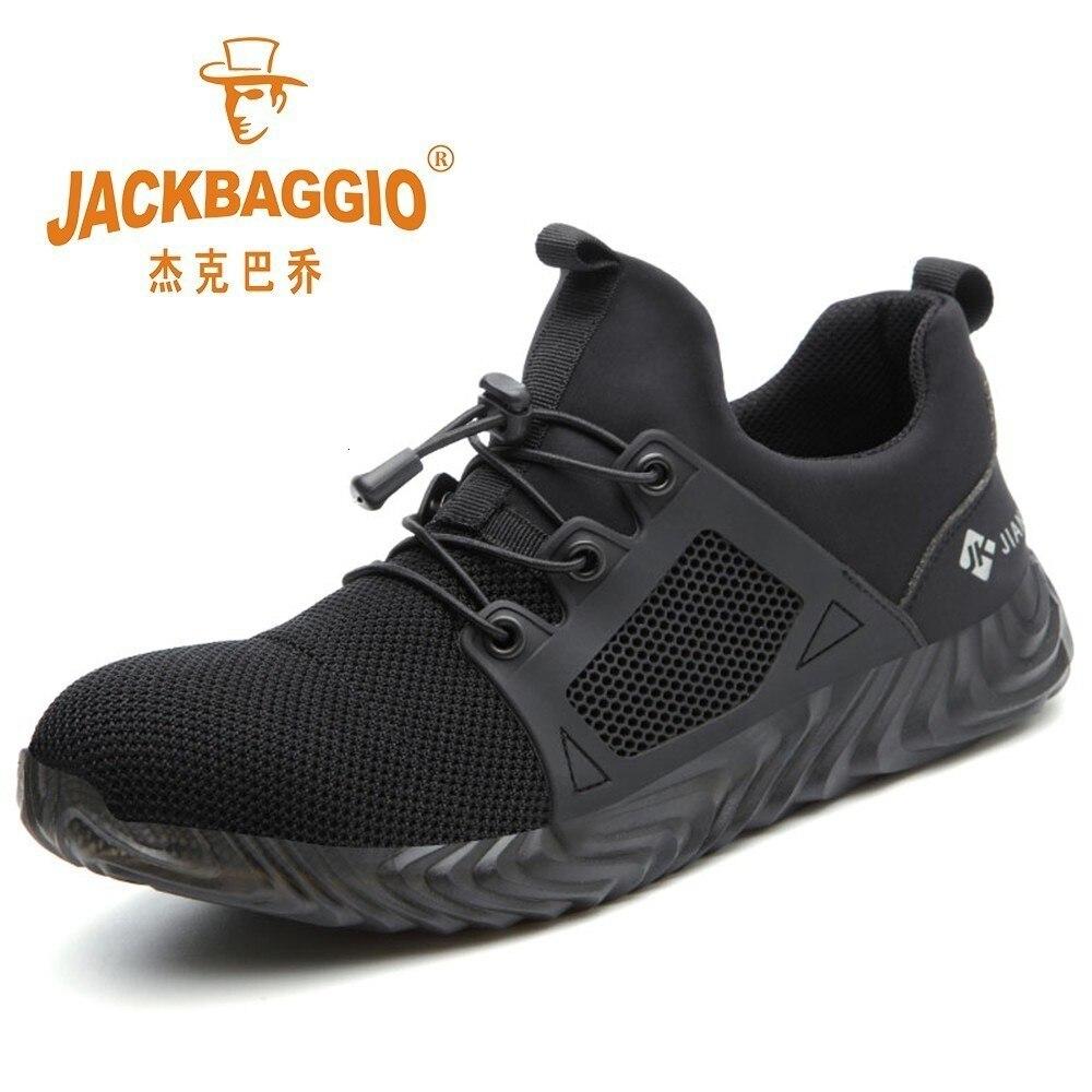 Aço teo sapatos de trabalho, leve respirável masculino militar sola de borracha, antiderrapante botas de construção masculina wearable sapatos de segurança