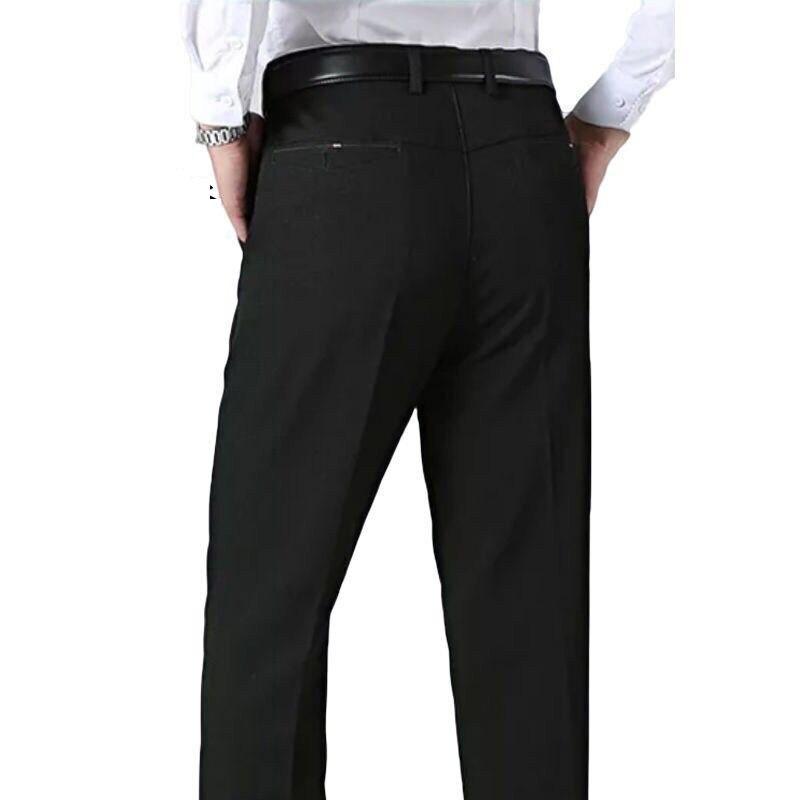 2019 Fashion Men Dress Suit Pants Classic Business Plus Size 20-40 Casual Straight Trousers Suit Pants Male Pantalon Hombre
