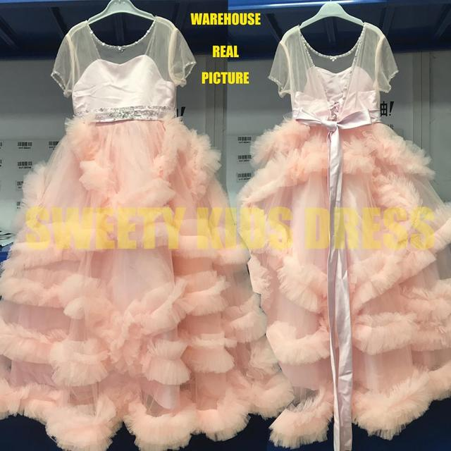 Summer White Lace Flower Girls Dress 6