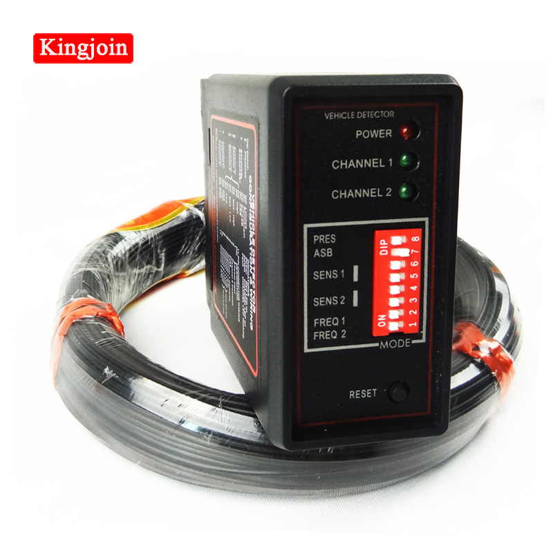 KINGJOIN Double Channel Loop Detector For Car Detecting With 50M 0.75mm Loop Sensor Coil Wire Use For Parking System