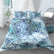 hot sell quilt cover bedclothes bedding set double layer blanket simple fashion crystal thicken velvet quilt cover home supplies 3D Bedding Set Mandala Bedding Duvet Cover King Queen Size Quilt Cover Bedclothes Comforter Cover 2/3Pcs Duvet Cover Set