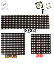 JERCIO panel screen 3535 like ws2812b 8x8/16x16/8x32 Pixel matrix Sk6812 can individually address IC chip DC5V custom made custom made halo lit address numbers