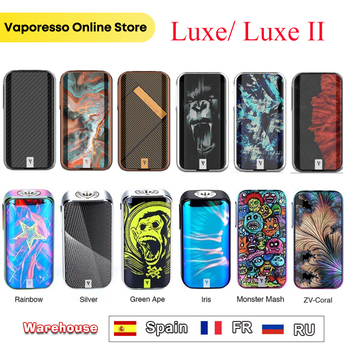 Original 220W Vaporesso LUXE Vape Mod Box & Vaporesso Luxe II MOD Powered By Dual 18650 Batteries Fit 510 Pin Atomzier VS Swag 2