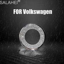 Anillo de cristal con emblema para volante de coche, accesorios decorativos para Volkswagen VW Golf 4 5 Polo Jetta Mk6