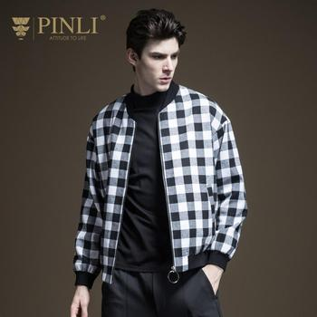 Bomber Jacket Men Limited Standard No Plaid Pinli Fall 2019 New Men's Decoration Body Colour Checker Youth Shuttle B193404375