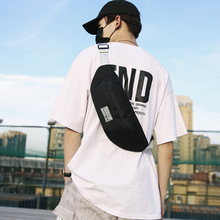 Man Multi function chest Bag Large Capacity Sports shoulder bag Running Mobile Phone Waist Bag Slingshot cross body Bag Unisex