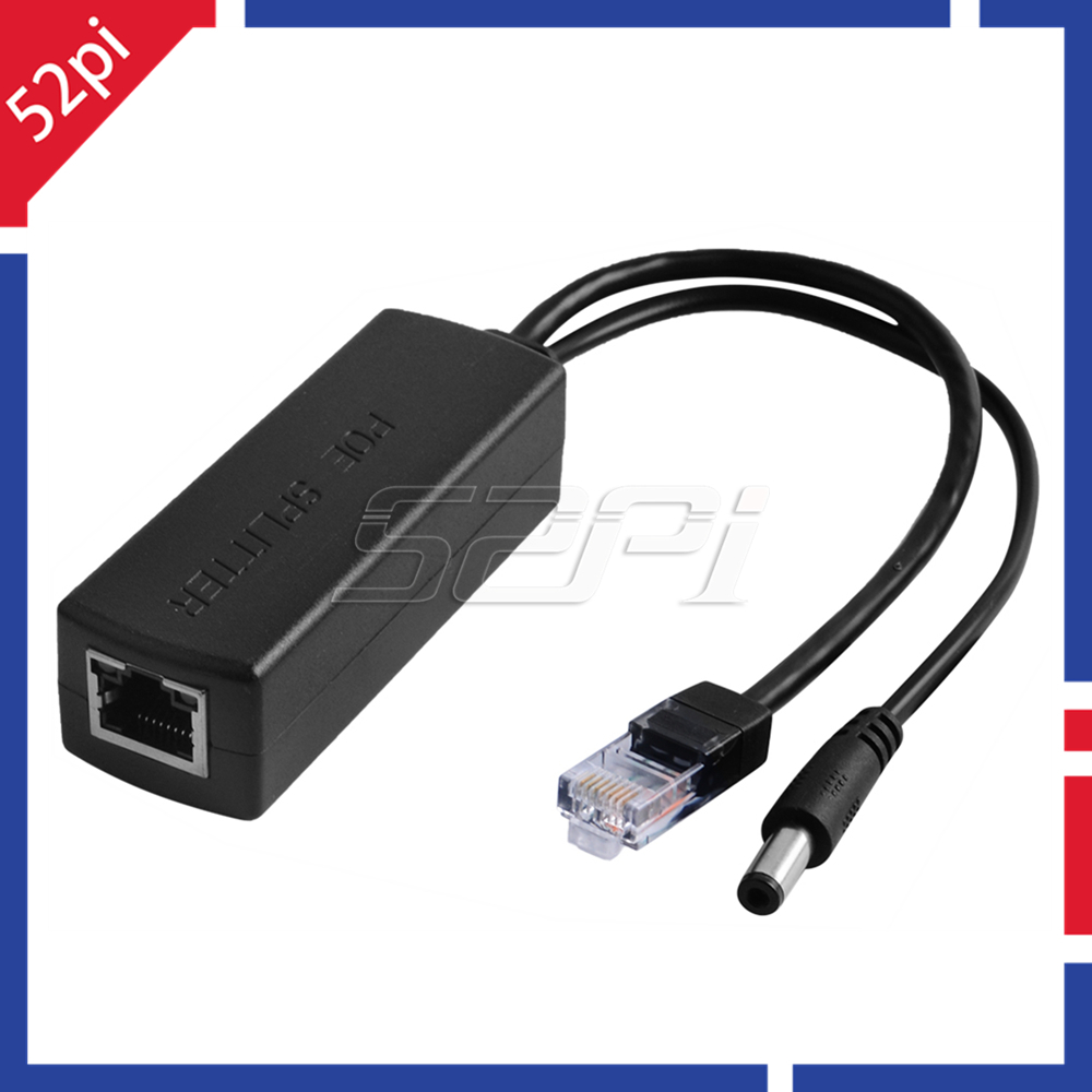52Pi 48V To 12V PoE Splitter Module With Gigabit NIC PoE Switch Extension Power Over Ethernet For IP Camera, AP, Router, Voip