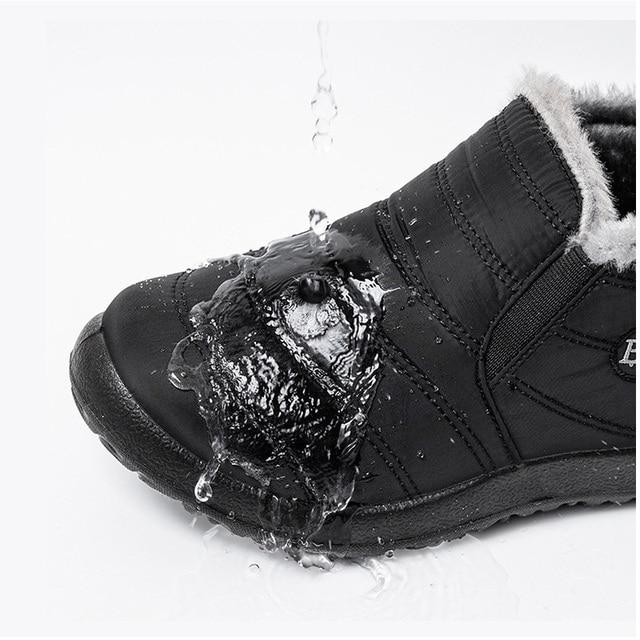Mulheres botas de inverno ultraleve sapatos femininos tornozelo botas mujer waterpoor botas de neve feminino deslizamento em sapatos casuais planos sapatos de pelúcia 5