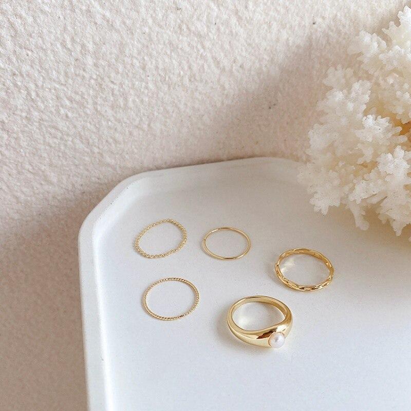 Женское кольцо с металлическим кольцом mengjiqiao элегантное