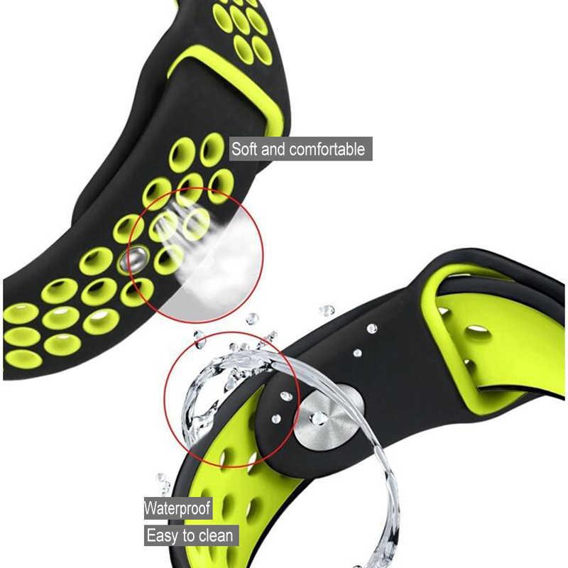 Gelang Silikon untuk Huami Amazfit Bip Tali GTS Jam 20 Mm 22 Mm Tali Pergelangan Tangan untuk Amazfit Stratos Kecepatan GTR Gelang