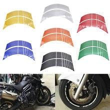 Полоски для мотоцикла светоотражающие наклейки на колесные шины