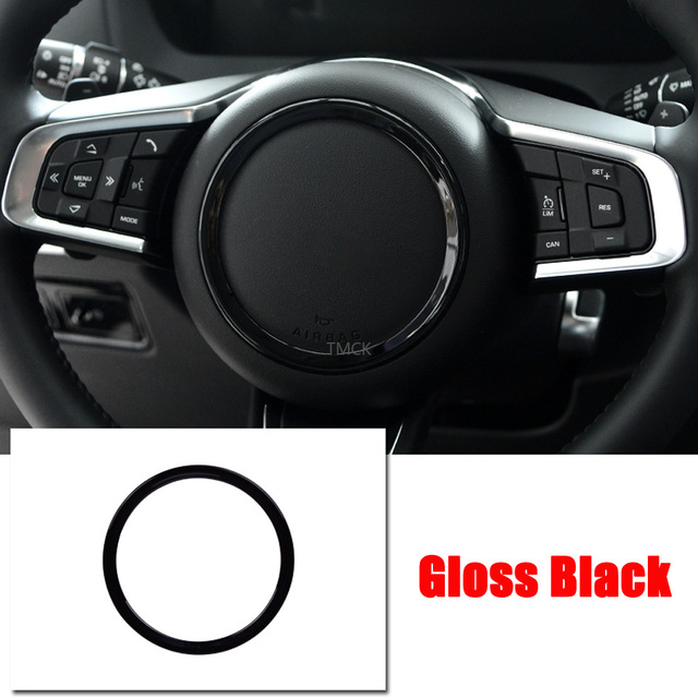 ABS Chrome Car Accessories Steering Wheel Ring Sticker Logo Frame Trim for Jaguar F-Pace X761 XE X760 XF/XFL X260 E-PACE F-TYPE 4