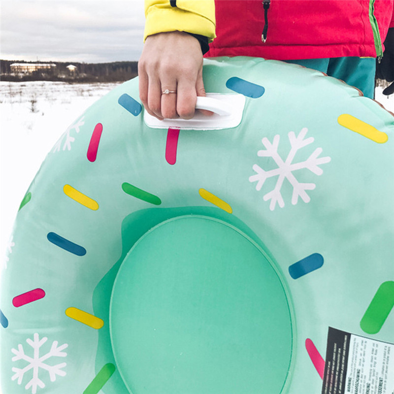 Skiing Pad Board Inflatable Durable Tire Snowboard Sleds Handle Design Suitable For Both Children Adult Skiing Accessories