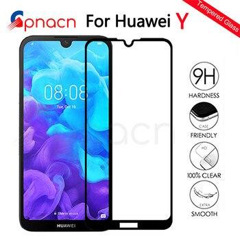 999D verre de Protection sur le pour Huawei Y5 Y6 Y7 Y9 Prime 2018 2019 Y5 Lite trempé protecteur d'écran verre Protection Film étui